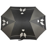 Duo paraplu zwart love birds_