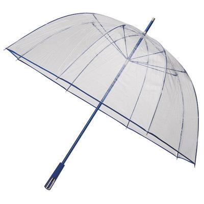 Doorzichtige golfparaplu Blauw
