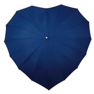 Hart paraplu donker blauw
