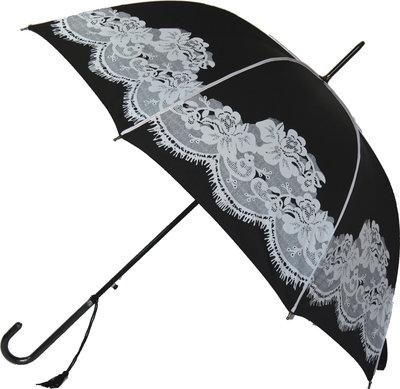 Zwarte kanten paraplu
