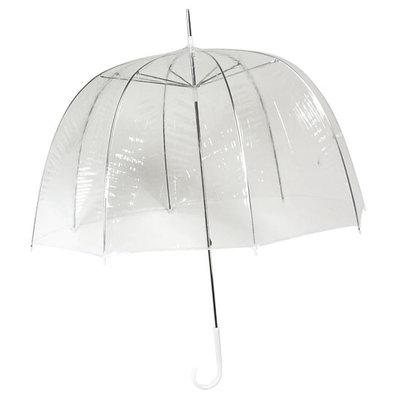 Bedrukte doorzichtige koepel paraplu met Logo