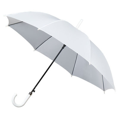 Witte golfparaplu met haak