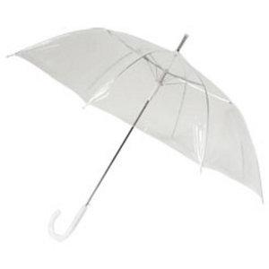 Doorzichtige paraplu breed met eigen bedrukking