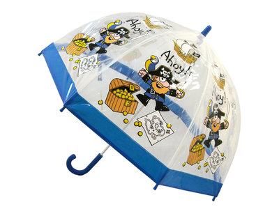Bugzz doorzichtige kinderparaplu Piraat