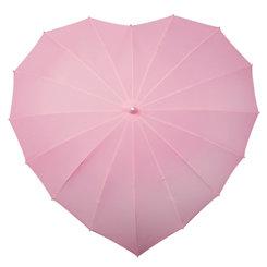 lichtroze hart paraplu