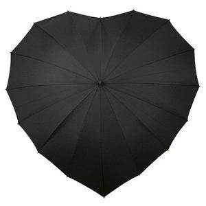 zwarte hart paraplu