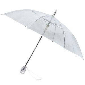 Bedrukte doorzichtige tulp paraplu met Logo